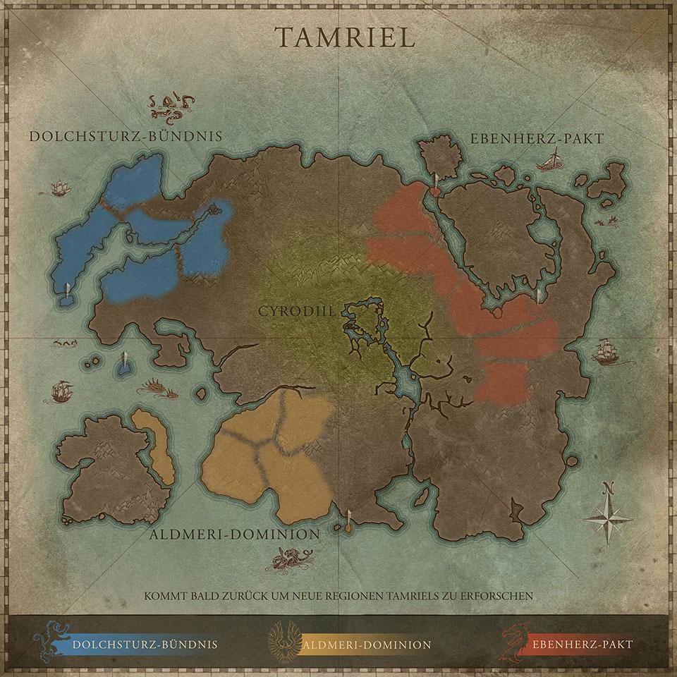 Endlich enthüllt: Die Ingame Map von Tamriel - Neuigkeiten über The ...
