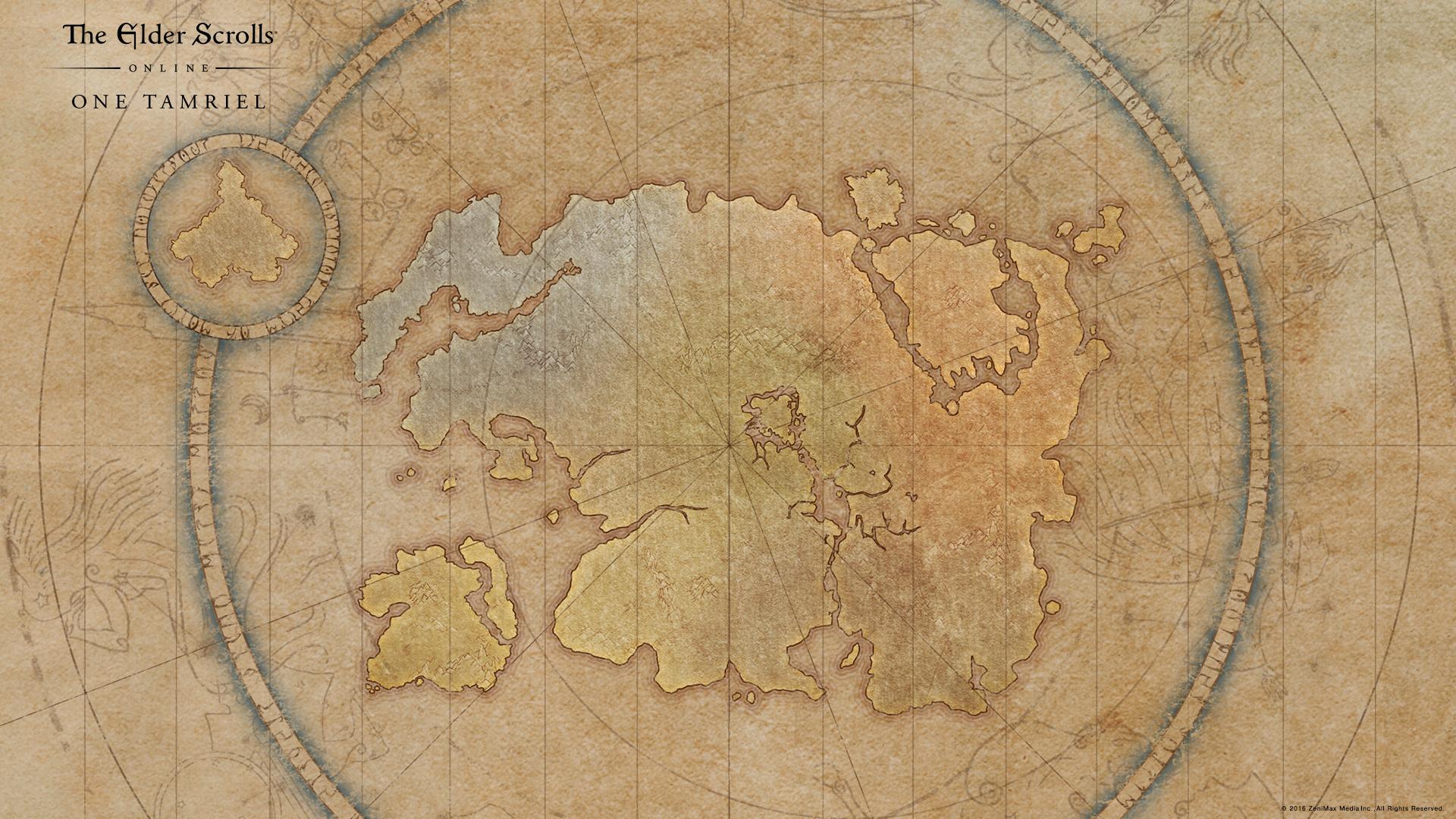 One Tamriel Map Wallpaper Elder Scrolls Online